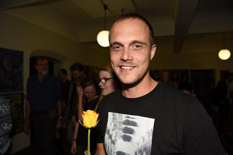 Florian Hofbauer aus dem Team Publikation war auch bei der Ausstellung aktiv.